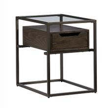 Chairside Table - Contemporary Umber Finish