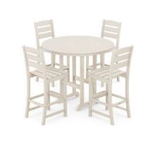 View Product - Lakeside 5-Piece Round Bar Side Chair Set in Sand