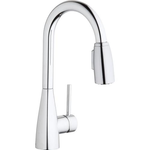 Elkay - Elkay Avado Single Hole Bar Faucet with Pull-down Spray and Forward Only Lever Handle Chrome