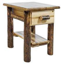 Glacier Country Collection Nightstand with Drawer