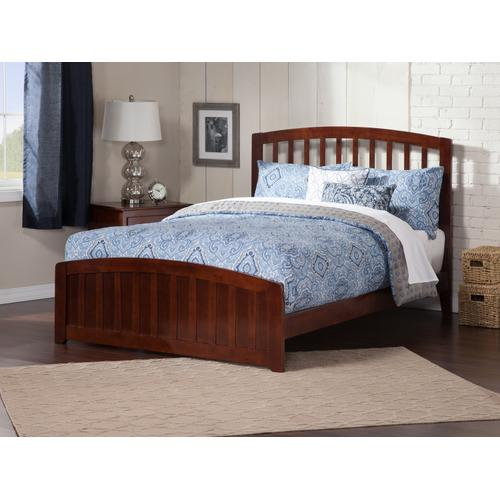 Richmond Queen Bed with Matching Foot Board in Walnut