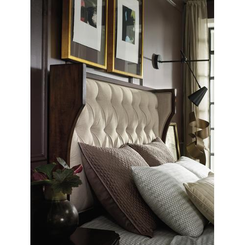 Hooker Furniture - Palisade Upholstered Shelter King Bed - Taupe Fabric