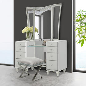 Vanity Desk W/vanity Mirror (2pc)