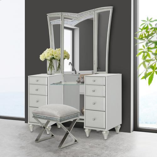 Amini - Vanity Desk W/vanity Mirror (2pc)