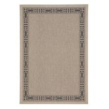 Finesse-Motif Charcoal Machine Woven Rugs