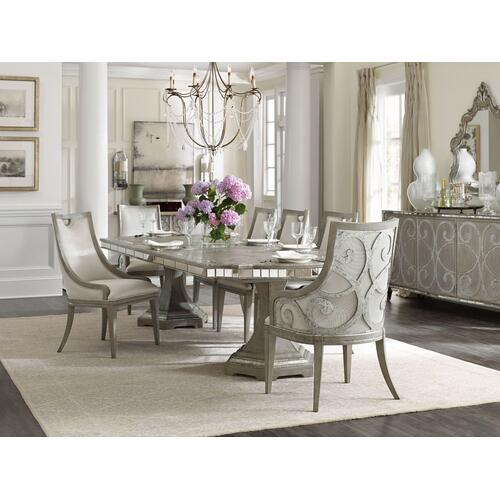 Dining Room Sanctuary Rectangle Dining Table Top w/2-20in leaves