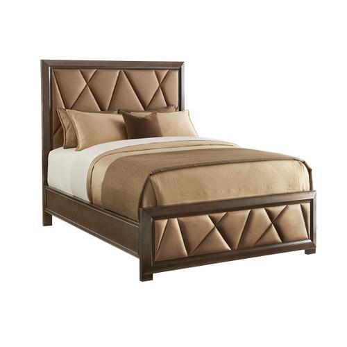 Spectrum Upholstered Panel Bed Queen