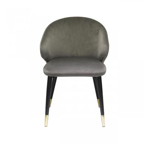Gallery - Modrest Elon - Modern Dark Grey Velvet Dining Chair (Set of 2)