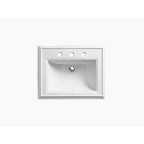 """Dune Classic Drop-in Bathroom Sink With 8"""" Widespread Faucet Holes"""