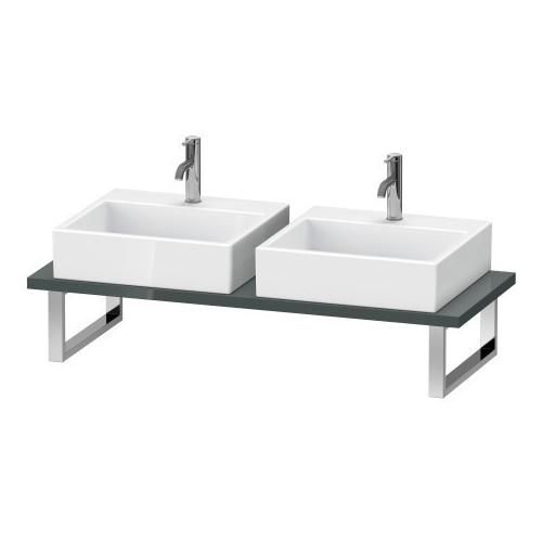 Duravit - Console For Above-counter Basin And Vanity Basin, Dolomiti Gray High Gloss (lacquer)