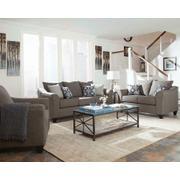 Salizar Transitional Grey Three-piece Living Room Set Product Image
