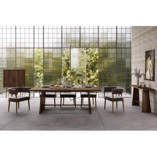 VIG Furniture - Modrest Selena Modern Acacia & Brass Console Table