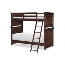 Canterbury - Warm Cherry Twin Over Twin Bunk Bed