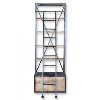 Industrial Library With Ladder- Small