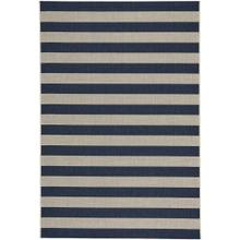 "Finesse-Stripe Navy - Rectangle - 3'11"" x 5'6"""