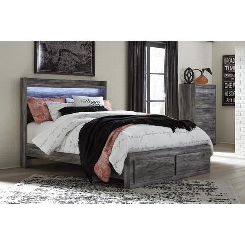 Baystorm - Gray 4 Piece Bed (Queen)