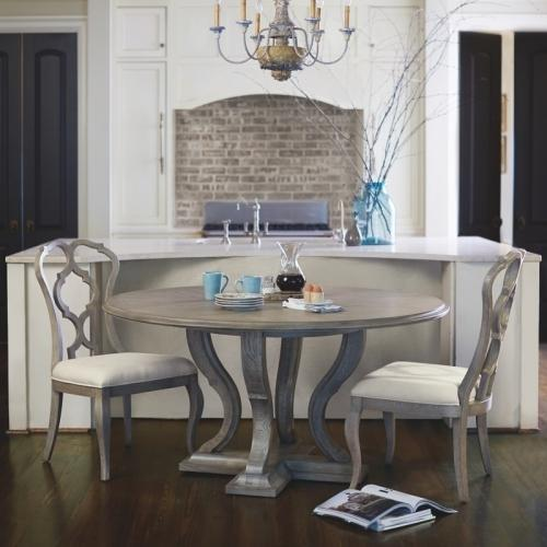 Gallery - Marquesa Round Dining Table in Gray Cashmere (359)