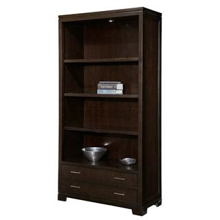 7-9184 office@home Mocha Transitional Bookcase