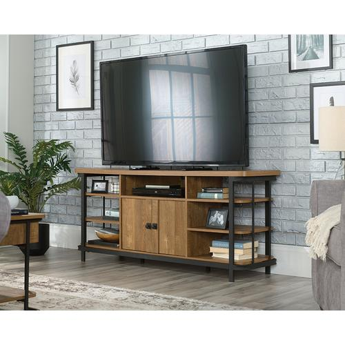 Wood & Metal TV Credenza with Storage