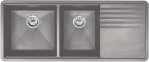 Precis Multilevel 1-3/4 Bowl With Drainer - Concrete Gray Product Image