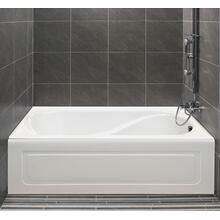 Petunia Bathtub with integrated tiling flange and integrated skirt