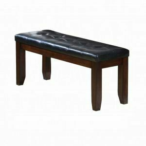 ACME Urbana Bench - 04625 - Black PU & Cherry