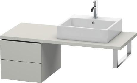 Low Cabinet For Console, Concrete Gray Matte (decor)