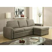 ACME Derwyn Sectional Sofa - 51645 - Light Brown Linen Product Image