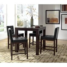 Square Counter Dining Table - Dark Chocolate Finish