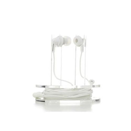 ErgoFit In-Ear Earbud Headphones with Mic + Controller - White - RP-TCM125-W