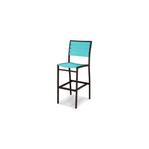 Polywood Furnishings - Eurou2122 Bar Side Chair in Textured Bronze / Aruba