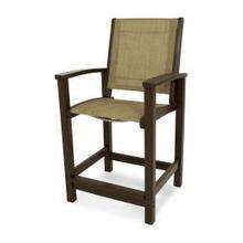 View Product - Coastal Counter Chair in Mahogany / Burlap Sling