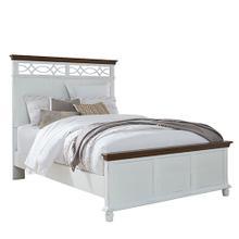 See Details - Queen Bed - Oak/Vanilla Finish