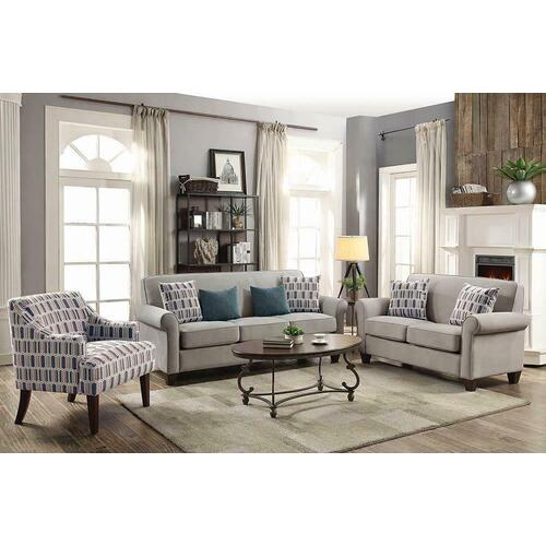 Gideon Transitional Cement-toned Loveseat