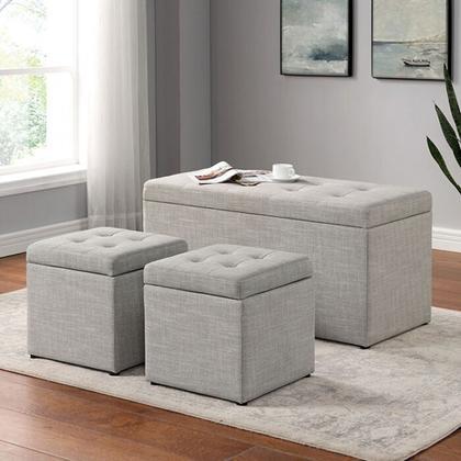 See Details - Daryn Storage Bench W/ Ottoman