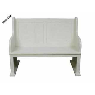 See Details - 4' White Bench