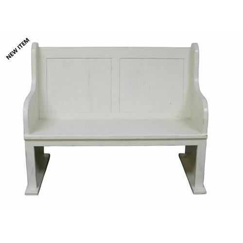 Million Dollar Rustic - 4' White Bench