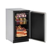 "18"" Refrigerator With Stainless Solid Finish and Field Reversible Door Swing (115 V/60 Hz Volts /60 Hz Hz)"