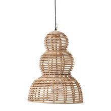"""Product Image - 30.25"""" Round x 30.25""""H Rattan Pendant Lamp, 6' Cord (40 Watt Bulb Maximum)"""