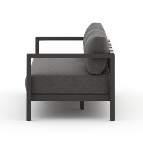 """88"""" Size Charcoal Cover Sonoma Outdoor Sofa, Bronze"""