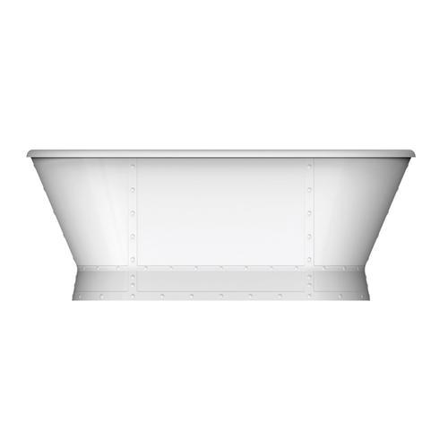 "Corrigan 66"" Acrylic Freestanding Tub - Brushed Nickel Drain and Overflow"