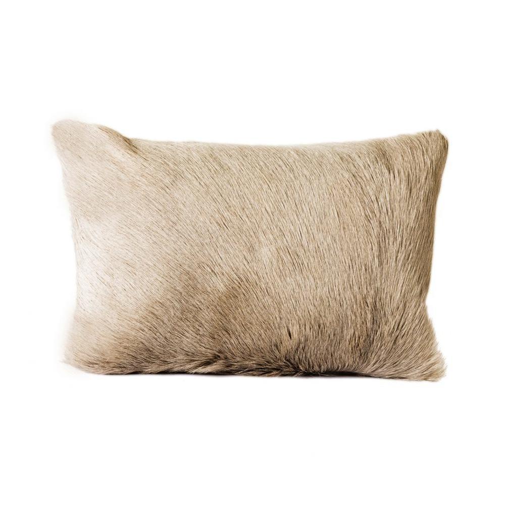 See Details - Goat Fur Bolster Light Grey