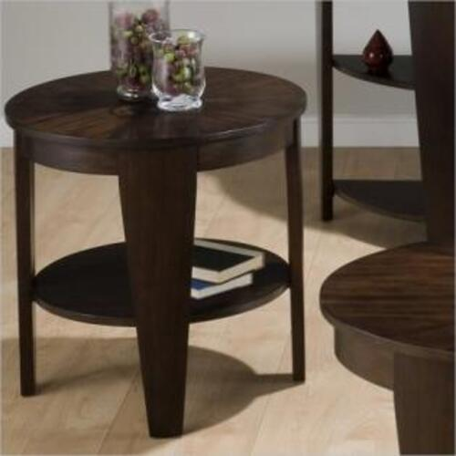 Jofran - Round End Table W/ Shelf