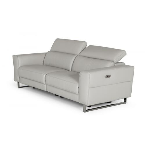 VIG Furniture - Accenti Italia Lucca - Italian Modern Grey Leather Sofa w/ Electric Recliners
