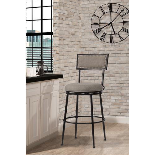 Thielmann Commercial Swivel Bar Stool - Granite/dark Charcoal