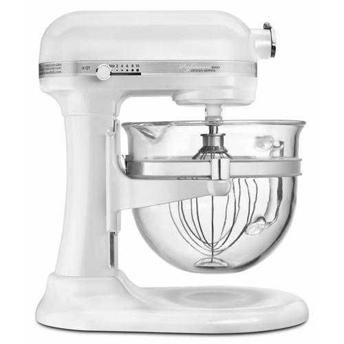 Gallery - Professional 6500 Design™ Series 6 Quart Bowl-Lift Stand Mixer - Frosted Pearl White