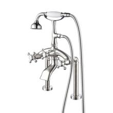 Tub Rim-Mounted Filler with Diverter - Brushed Nickel