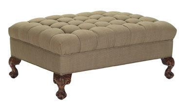 Biscuit Tufted Ottoman