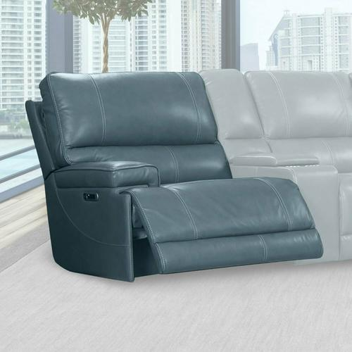 WHITMAN - VERONA AZURE - Powered By FreeMotion Power Cordless Left Arm Facing Recliner