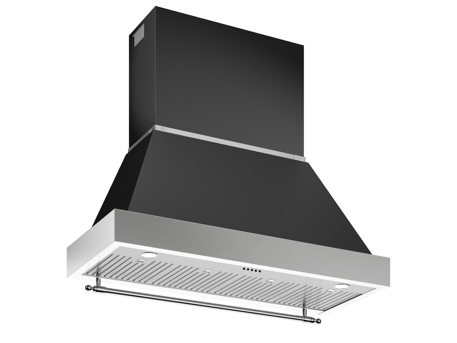 Bertazzoni48 Wallmount Canopy And Base Hood, 1 Motor 600 Cfm Nero Matt